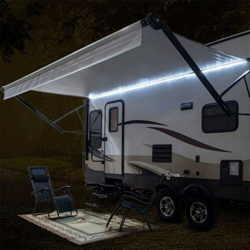 RecPro™ RV 12' WHITE LED Awning Party Light W/Mounting