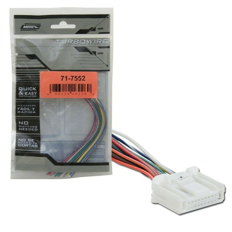 metra 71 7552 wiring harness for select 2007 up nissan subaru vehicles ebay