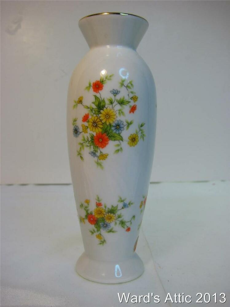 Lefton Hand Painted Flowered 6 1 2 Quot Vase Made In Japan Ebay
