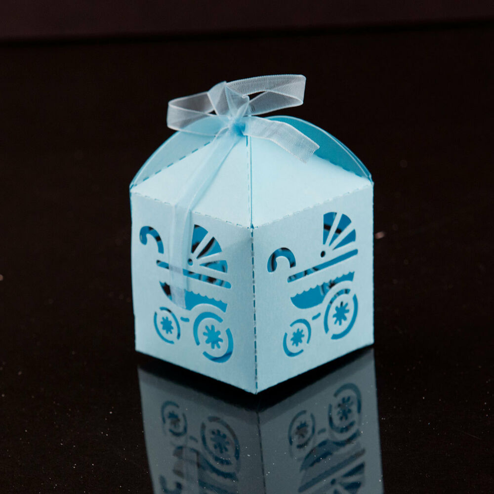 Blue Carriage Favor Candy Box Party Baby Shower