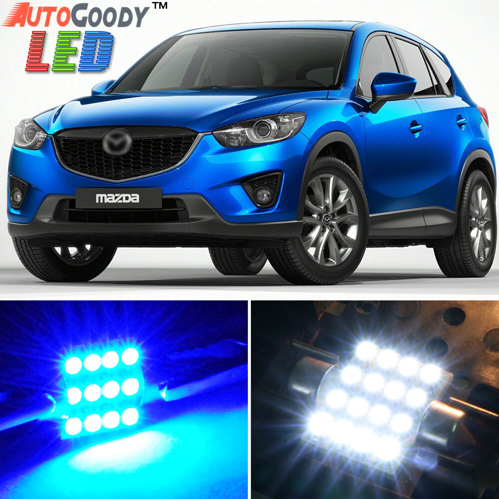 11 x premium blue led lights interior package kit for 2013 2017 mazda cx 5 tool ebay. Black Bedroom Furniture Sets. Home Design Ideas