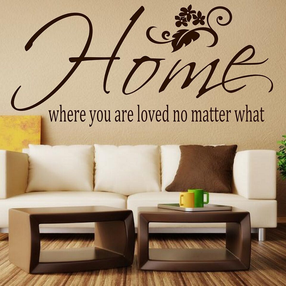 Wall quote sticker home where you are loved no matter what for Decor matters