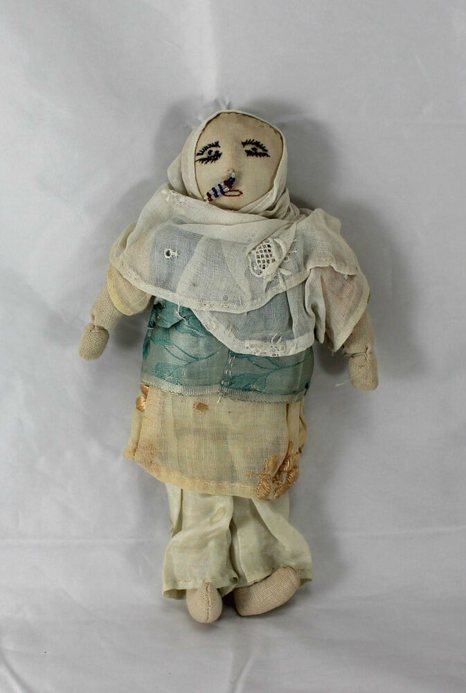 Vintage Rare Hand Crafted Indian Woman Cloth Doll In