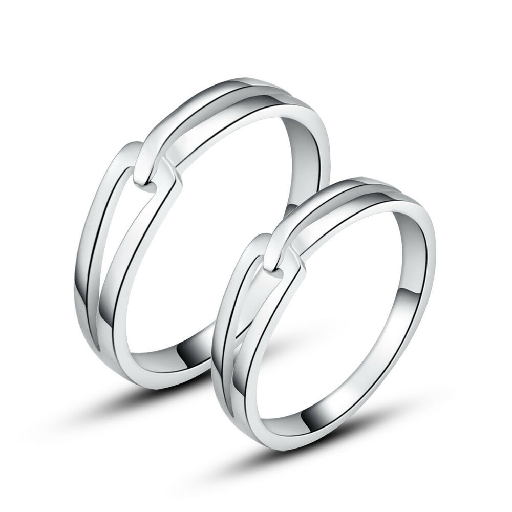 his hers rings sterling silver couple promise rings With couple wedding rings