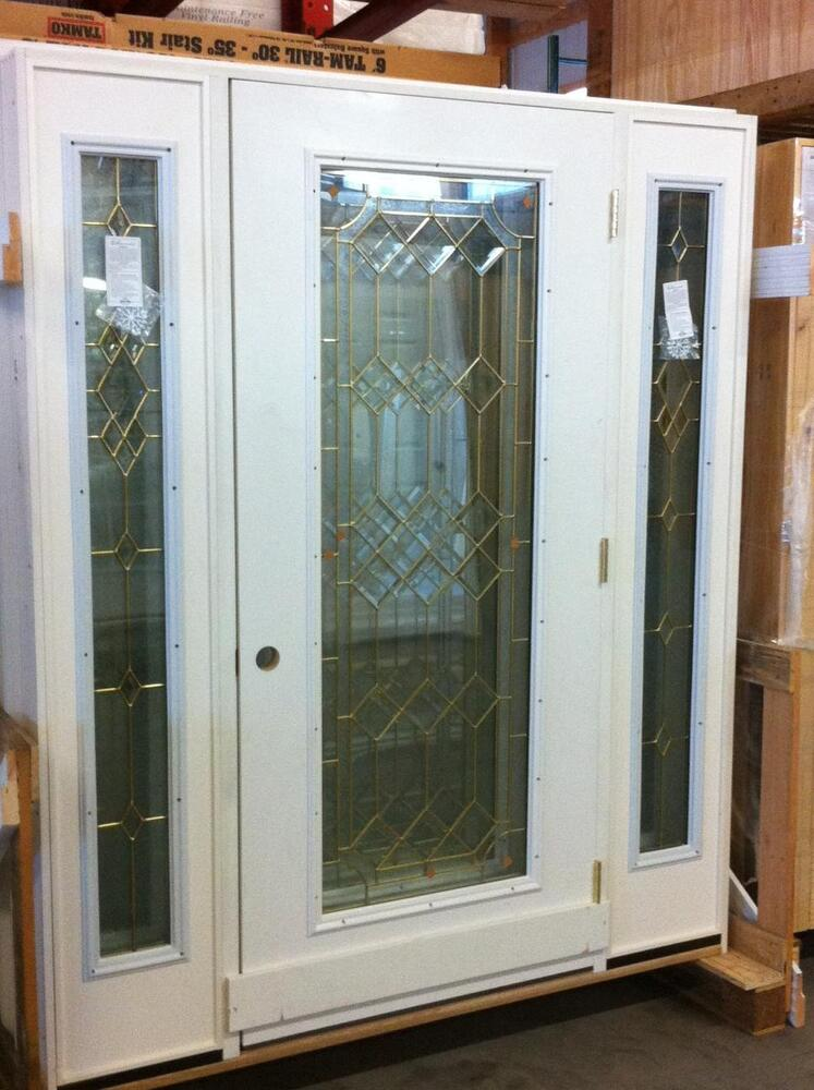 Fiberglass Doors With Side Lights Front Entry : Fiberglass front entrance door w sidelights rh brand