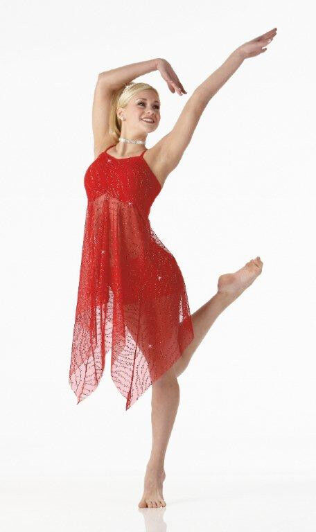Contemporary christmas lyrical ballet dance costume dress