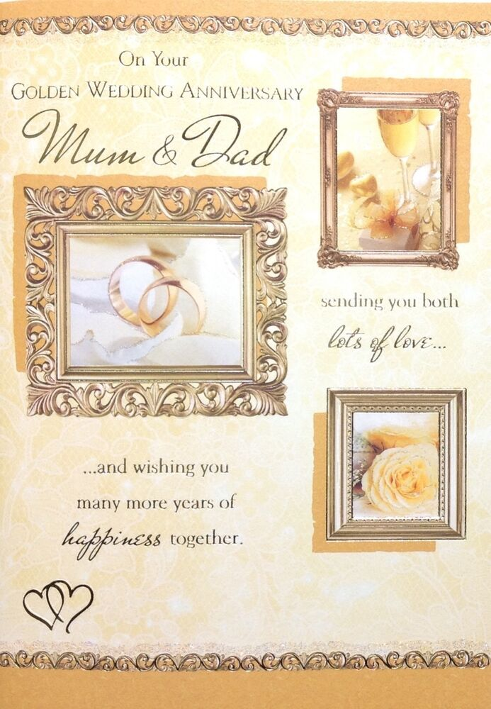 Mum and dad th golden wedding anniversary card