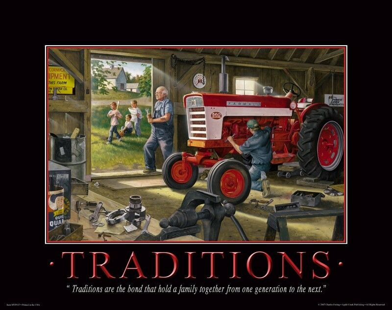 Farmall ih tractor motivational poster art print toys for International harvester wall decor