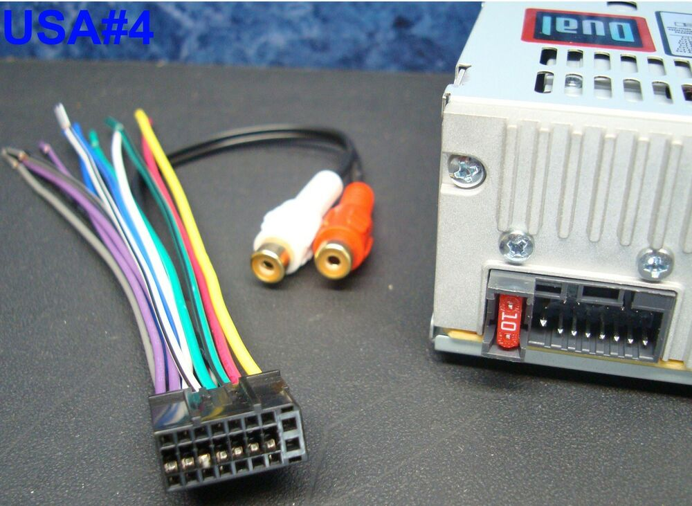 dual wire harness plug xd7600 xdm6820 xdm6400 xdmr7710 Stereo Wiring Harness Color Codes Sony Car Stereo Wiring Harness