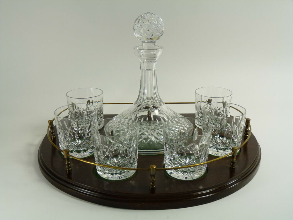 Waterford Crystal Lismore Cut Ships Decanter 6