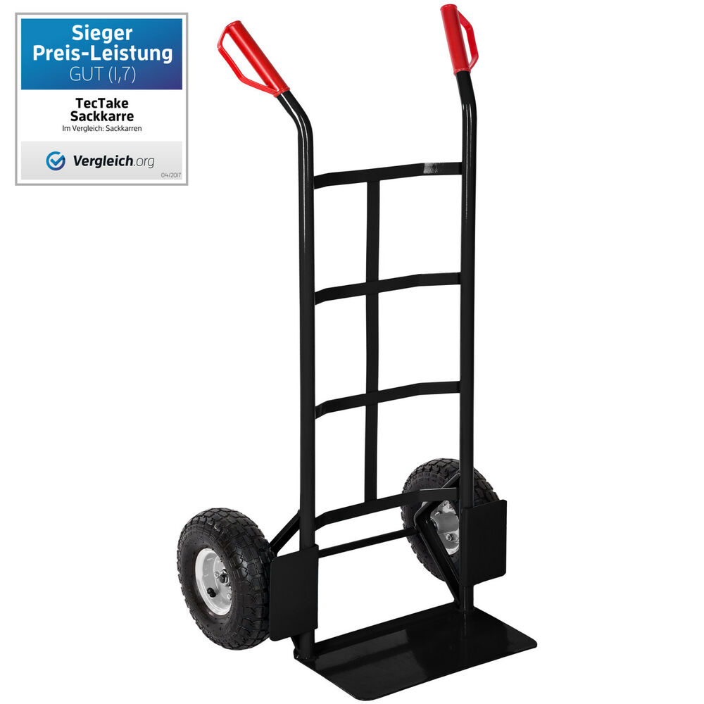 high quality heavy duty hand sack truck barrow dolly 200kg black ebay. Black Bedroom Furniture Sets. Home Design Ideas
