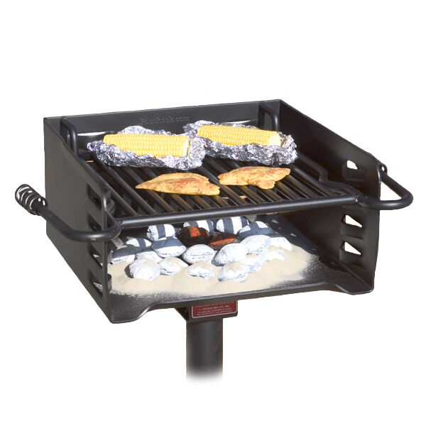 park style all steel bbq charcoal grill model h 16 b6x2 from pilot rock ebay. Black Bedroom Furniture Sets. Home Design Ideas