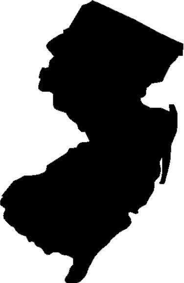 New Jersey State Vinyl Decal Sticker Silhouette Jersey Shore Ebay