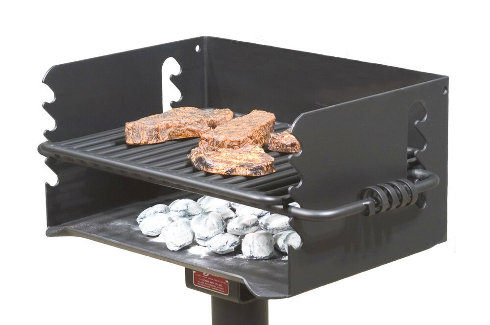 park style all steel charcoal bbq grill model q 20 b2 from pilot rock ebay. Black Bedroom Furniture Sets. Home Design Ideas