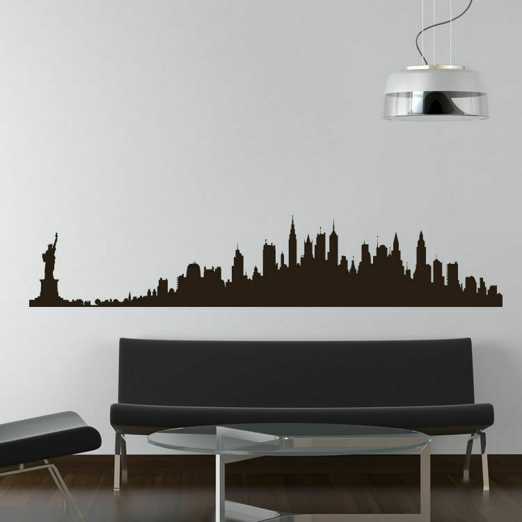 new york skyline wall decal as10012 ebay
