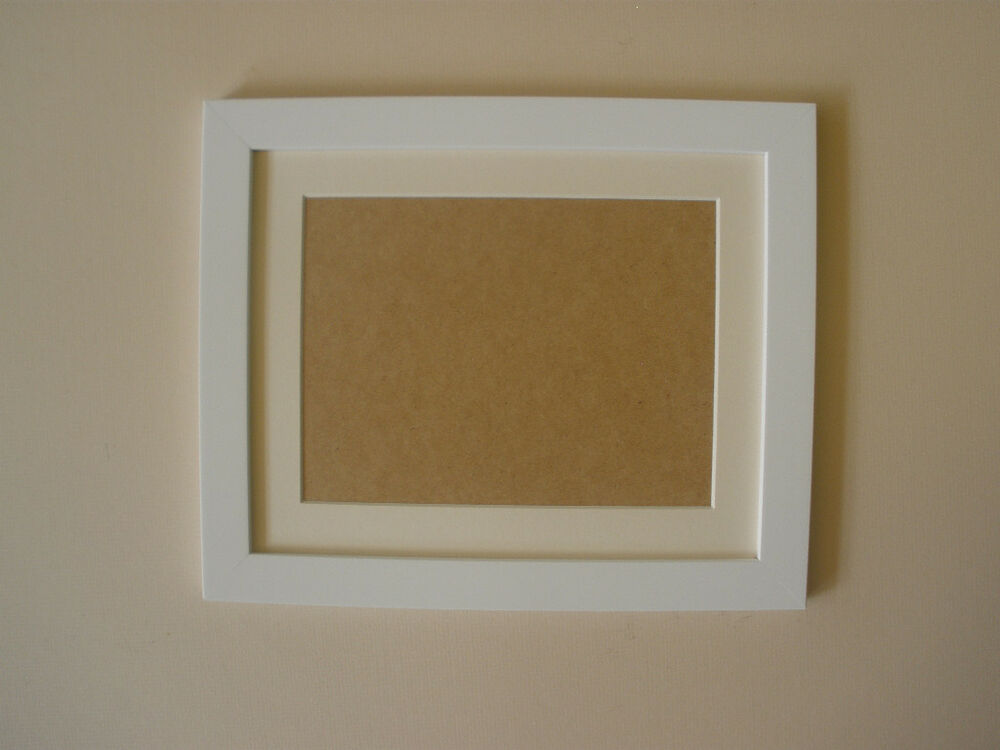 White wooden frame with mount ALL SIZES | eBay