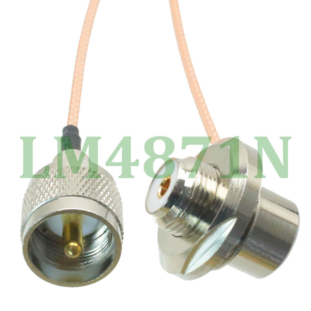 Cable pl uhf male to so female bulkhead ° for