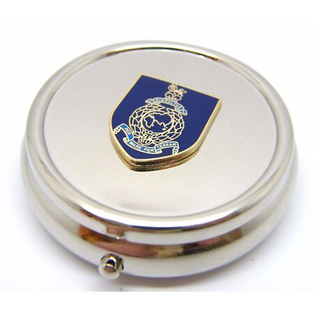 img-THE ROYAL MARINES MILITARY NAVY BADGE PILL BOX TABLET CHOICE SQUARE ROUND