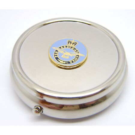 img-THE ROYAL AIR FORCE MILITARY RAF BADGE PILL BOX TABLET CHOICE SQUARE ROUND