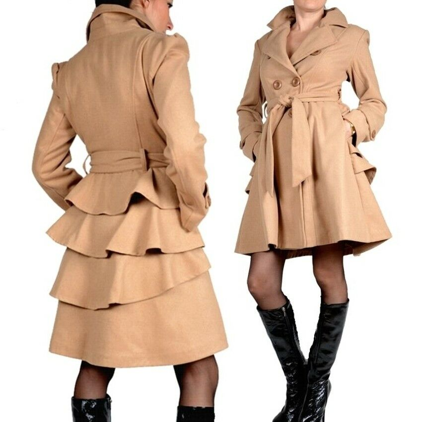 exklusiv business mantel trench coat wolle wintermantel 36 38 40 42 beige s m ll ebay. Black Bedroom Furniture Sets. Home Design Ideas