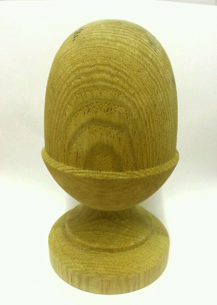 Treated Wooden Acorn Finial For 4ins Posts Ebay
