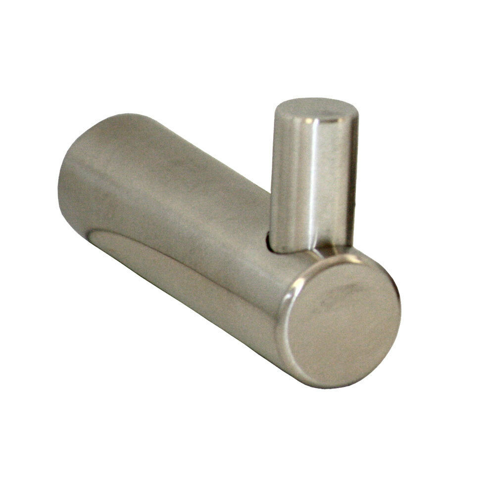 Bathroom accessories single robe hook satin stainless steel 80030 ebay for Stainless steel bathroom accessories