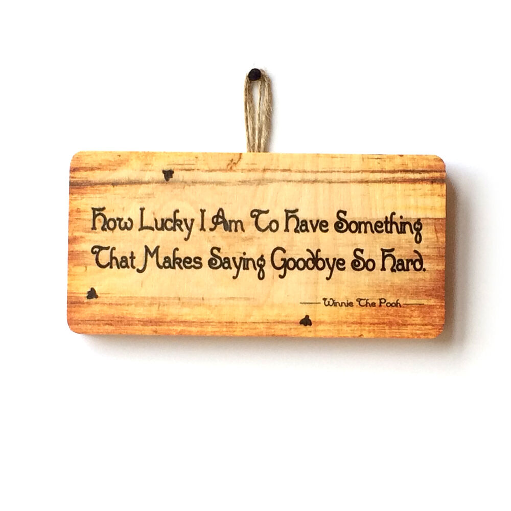 Quote Plaques: How Lucky I Am Novelty Cute Wooden Sign Plaque Family Gift