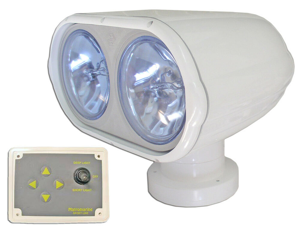 Marine Electric 12v Double Searchlight Spotlight For