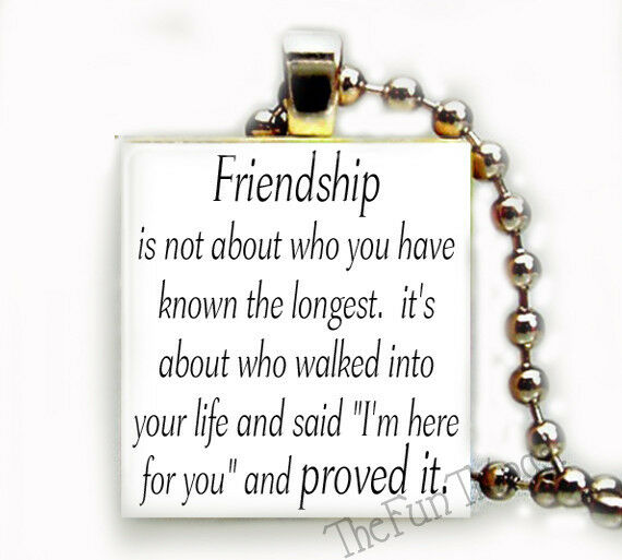 Friendship Quotes Jewelry: Friendship Quote Recycled Scrabble Tile Pendant Jewelry