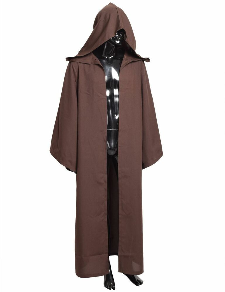 d2b060e955 Details about 1pc STAR WARS JEDI Hooded Robe Cloak Halloween Xmas Gifts  Cosplay Costume Cape