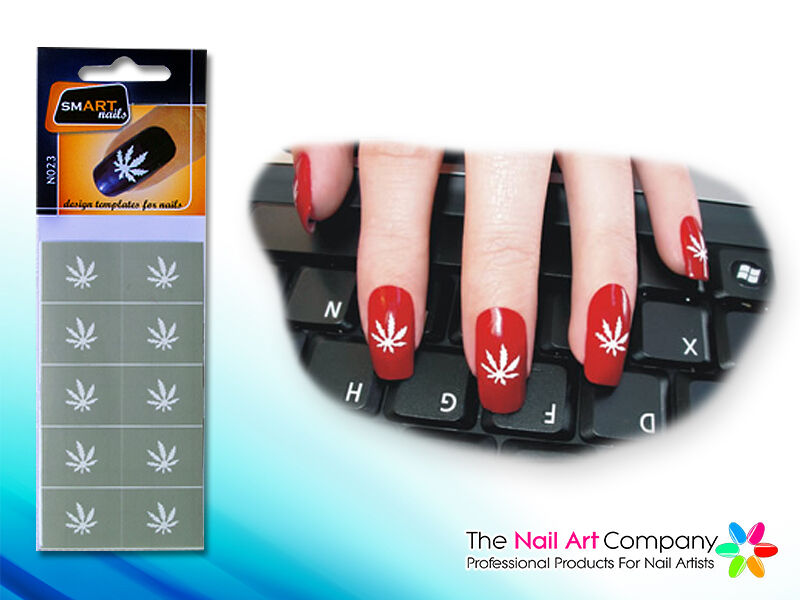 Smart Nails Marijuana Nail Art Stencils N023 Professional Nail