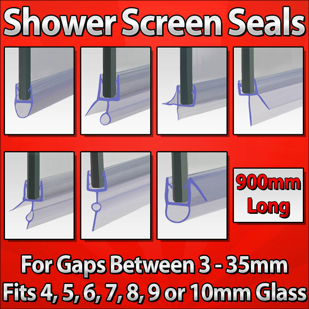 Curved Shower Screen Rubber Trim Wiper Seal For Pea P Shaped Bath Glass Door Ebay