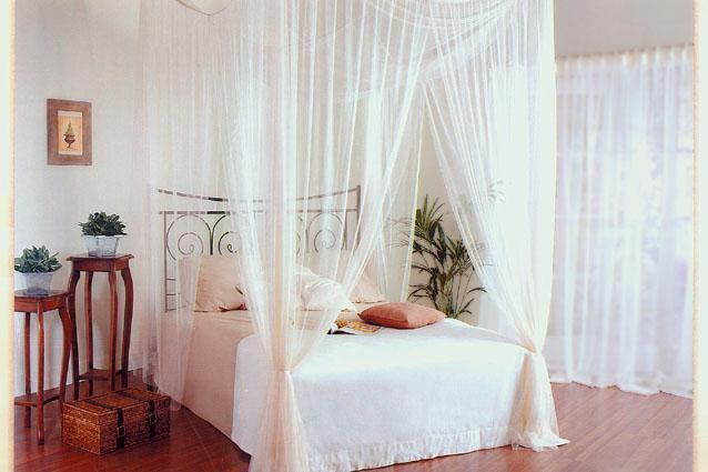 New white square bed canopy 4 poster style gift bag ebay for Rectangle bed canopy