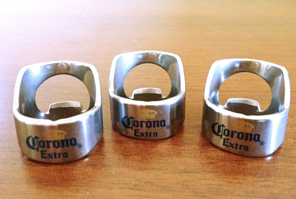 full color corona beer bottle ring opener 3 for bartender openers ebay. Black Bedroom Furniture Sets. Home Design Ideas