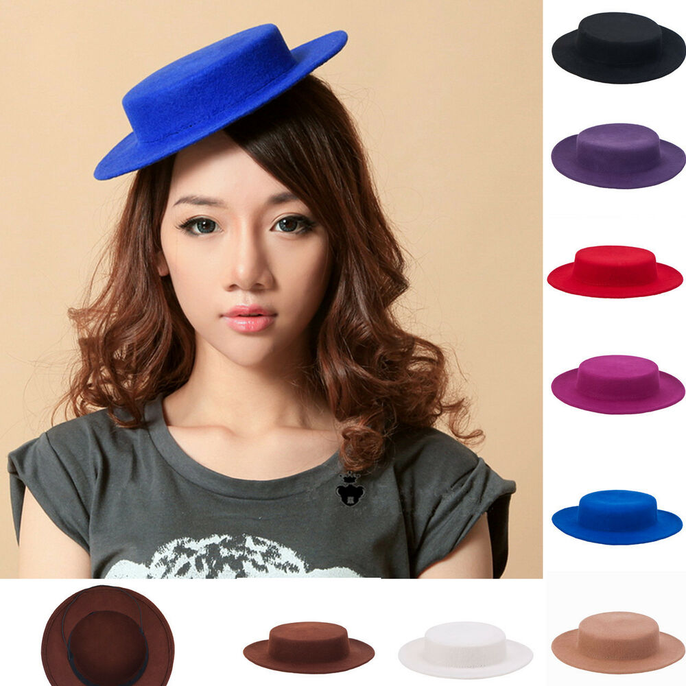Details about New Women Fascinator Wool Felt Boater Cocktail Race Day Hat  Millinery Base A059 57cee3ecd2b