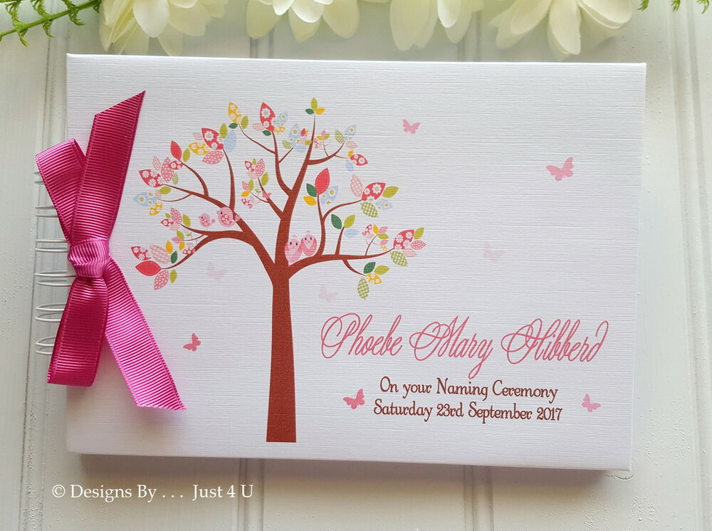 PERSONALISED BABY GIRL CHRISTENING*NAMING DAY * BAPTISM * GUEST BOOK ...