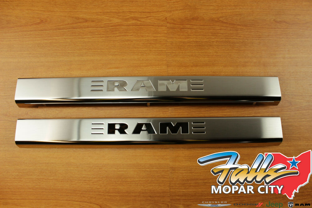 2011 2017 Dodge Ram Door Sill Guards Plates Stainless