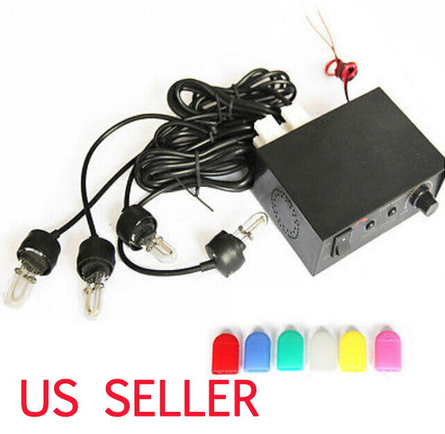 4 led car truck bulb flashing lamp strobe kit fire lightbar light headlights 12v ebay. Black Bedroom Furniture Sets. Home Design Ideas