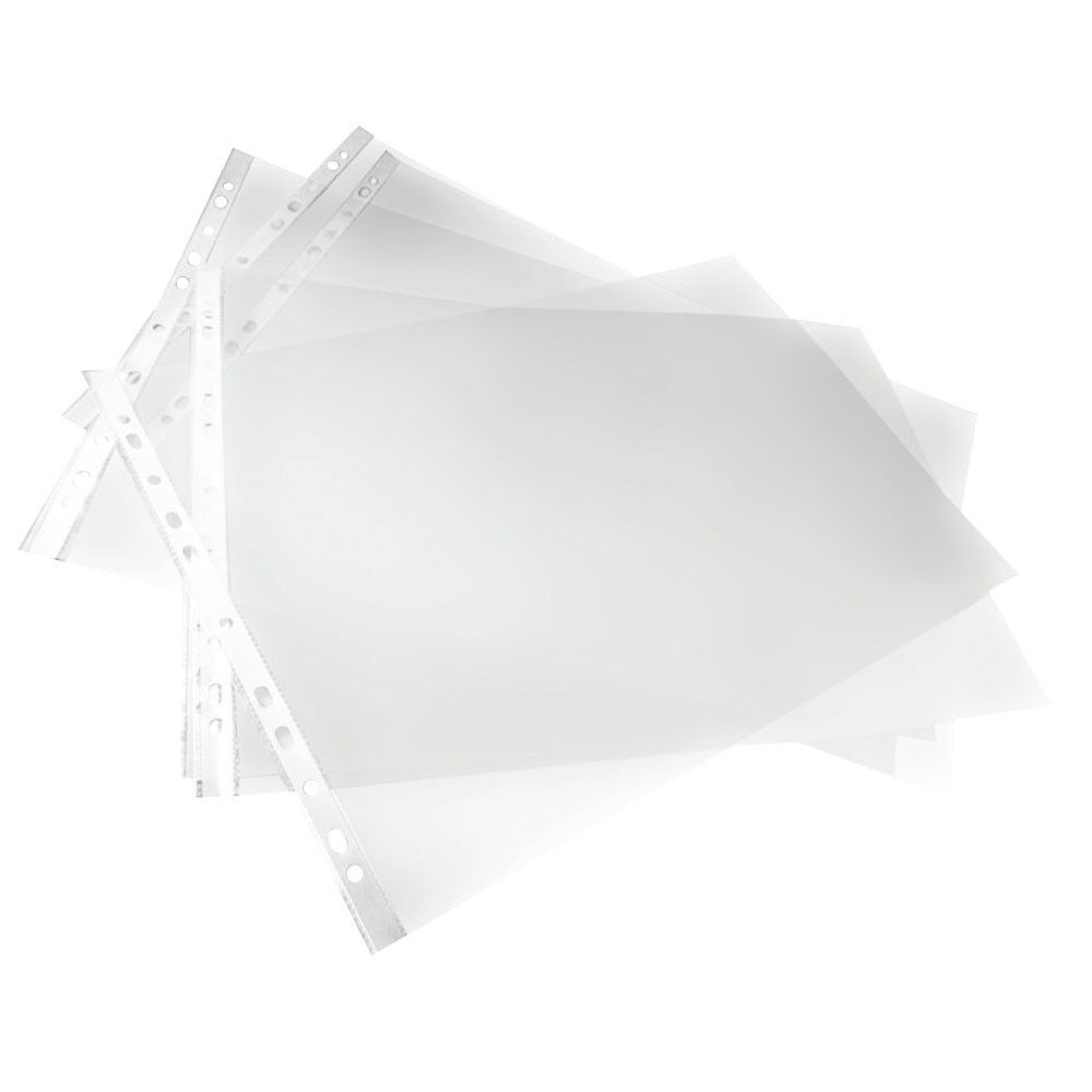 A5 Clear Punched Pockets Strong Poly Plastic Sleeve