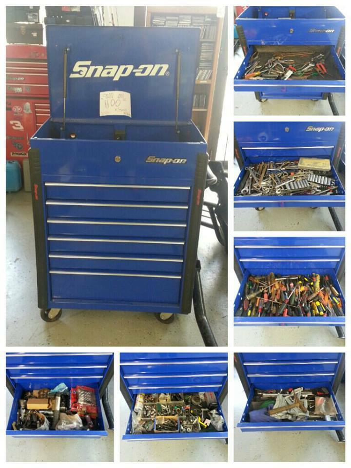 Snap On Tool Box Krsc326pcm Roll Cart Full Of Misc Tools
