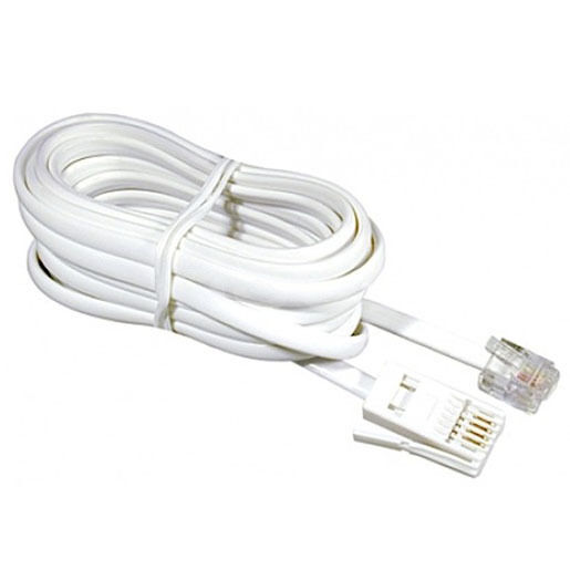 10 meter telephone modem phone fax router cable lead white rj11 sky bt uk 10m ebay. Black Bedroom Furniture Sets. Home Design Ideas