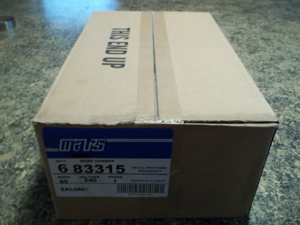 box of 6 disconnect boxes 60 240 v non fused mars 83315 new ebay
