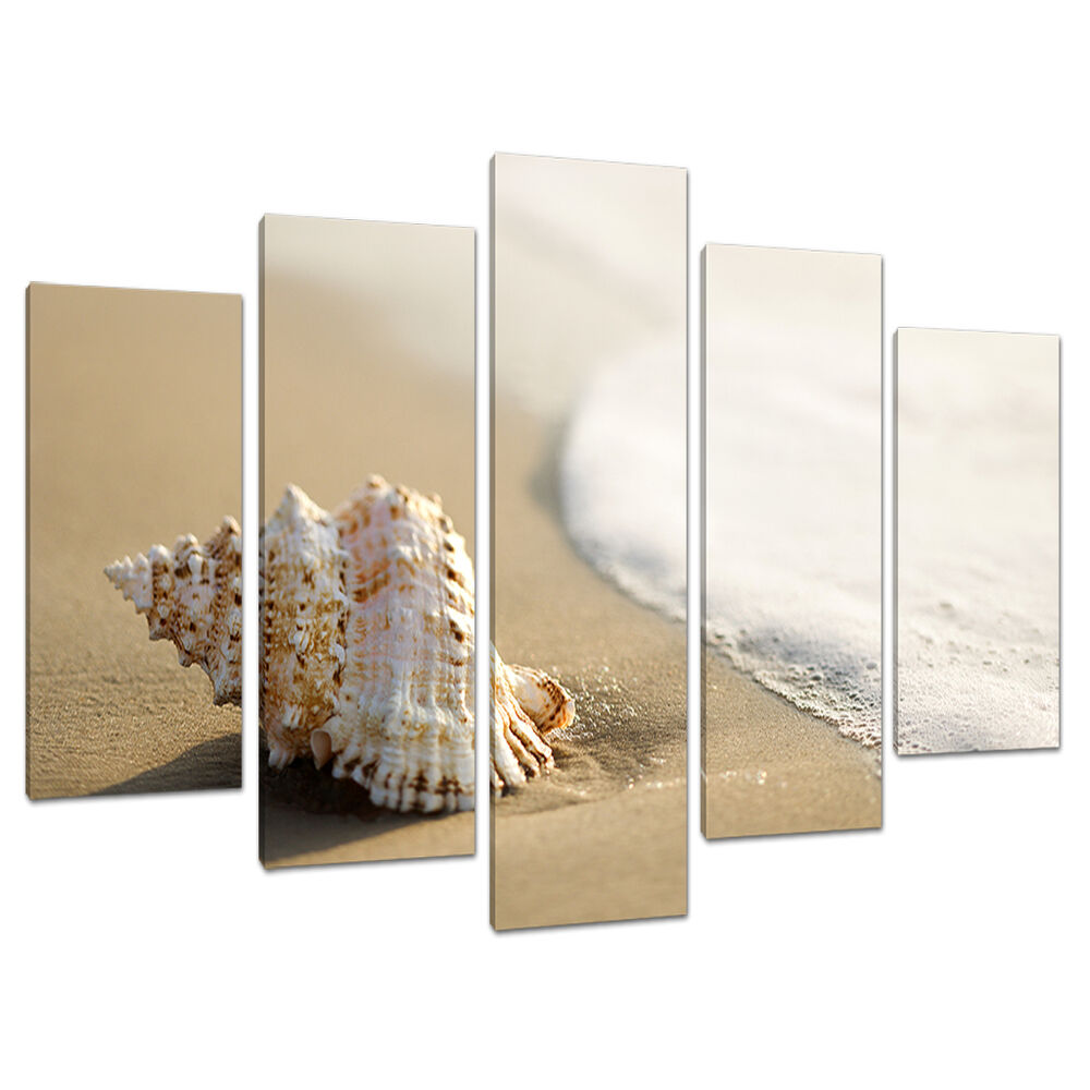 5 Panel Wall Art Beach Canvas Pictures Bathroom Bedroom Prints 5146 Ebay
