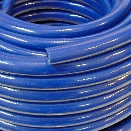 Blue braided flexible pvc hose pipe for water air oil