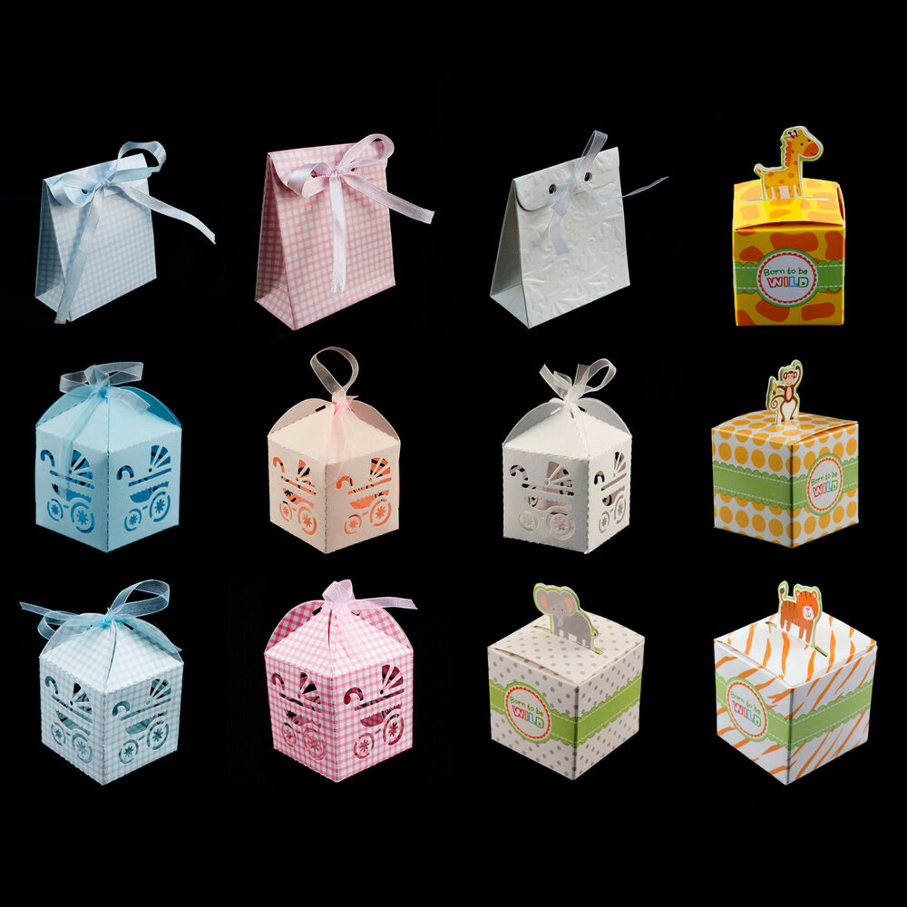 baby shower pattern gift candy treat boxes wedding party favor boy