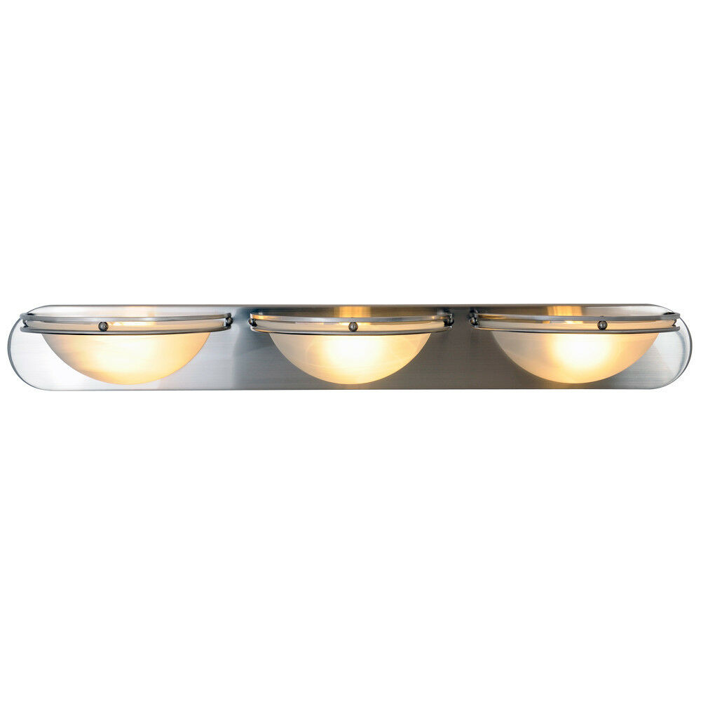 36 Vanity Light Brushed Nickel : Monument 617608 Contemporary 3-Light Vanity Fixture in Brushed Nickel eBay