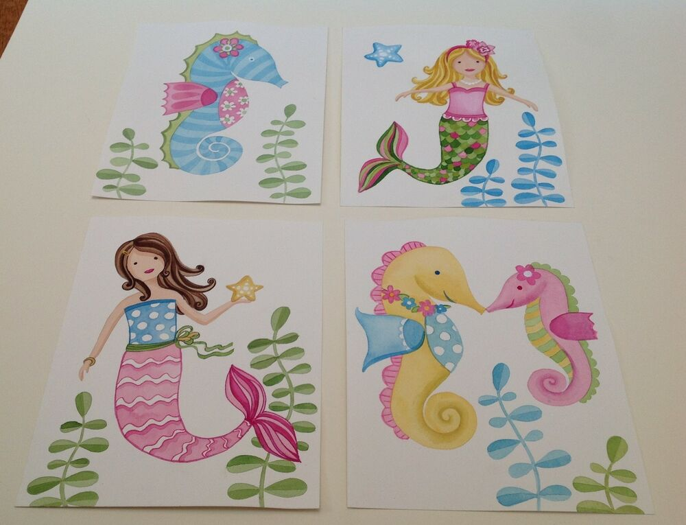 MERMAID SEAHORSE SEA ANIMALS PINK NURSERY BABY BEDDING