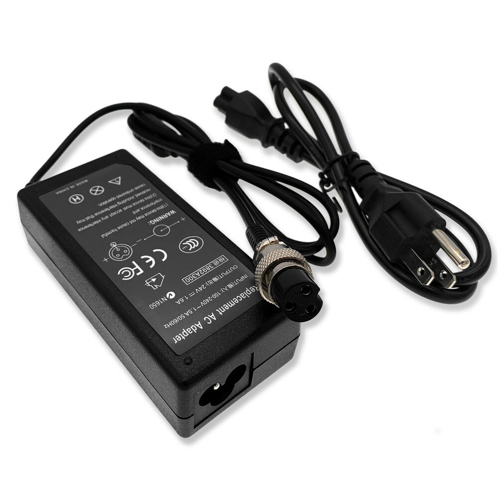 24v battery charger power supply cord for razor betty bistro bella scooter us ebay. Black Bedroom Furniture Sets. Home Design Ideas