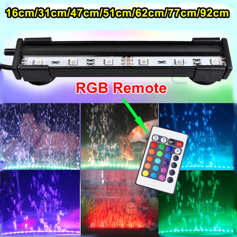 Rgb remote color changing led smd aquarium fish tank light for Fish tank lighting