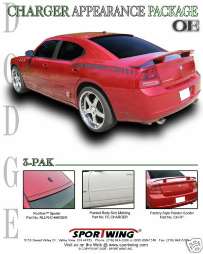 For Dodge Charger Painted Factory Style Spoiler Wing Trim 2006 2010 Ebay